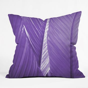 Rosie Brown Purple Palms Throw Pillow