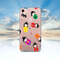 iPhone 7 Case Clear Japanese Doll iPhone 7 Plus Case iPhone 6 Case Clear iPhone 6S Case Rubber iPhone SE Case iPhone 6S Transparent Case