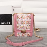New Designer CHANE SIZE  19.5*16*6 CM Double C Women Leather silver and gold on Chain cross body bag Chane vintage Chanl jumbo Handbag tote shoulder bags
