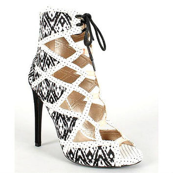 Glee-68x Tribal Open toe Lace up Pump Stiletto Heel - Cutesy Originals