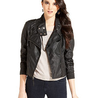 Levi's® Juniors Jacket, Faux-Leather Bomber - Juniors Jackets & Blazers - Macy's