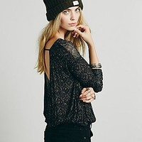 Free People Womens Back Together Printed Tee