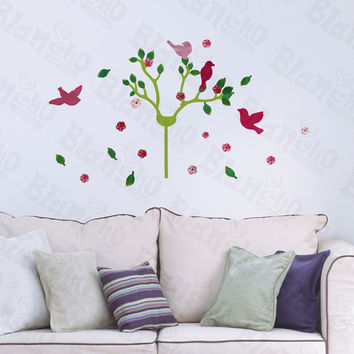 Cherry Blossom & Birds - Hemu Wall Decals Stickers Home Decor