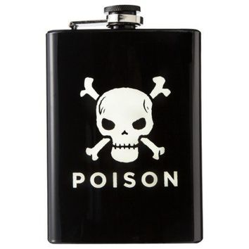 Evergreen Decal Skull and Poison Flask - Black