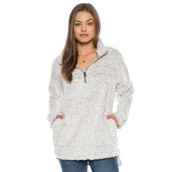 Frosty Tipped Women's Stadium Pullover in Putty by True Grit (Dylan)