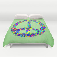 Peace Out Duvet Cover by Shawn King