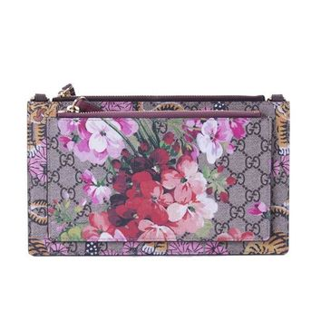 DCCKUG3 Gucci Soho Metallic Leather Chain Crossbody Bag Peonia Flower Tulip Pink Purple New