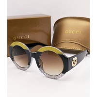 GUCCI Fashion Women Men Delicate Summer Colorful Frame Sun Shades Eyeglasses Glasses Sunglasses I-8090-YJ