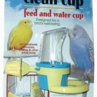 JW Pet Company Clean Cup Feeder and Water Cup Bird Accessory, Small, Colors may vary