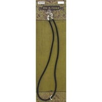 "17 1/2"" Black Round Velvet Necklace Cord 
