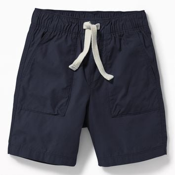 Pull-On Poplin Shorts for Toddler Boys|old-navy
