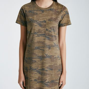 Camo Print Boxy T-Shirt Dress | Wet Seal