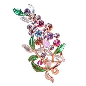Large Enamel Esmaltes Leaf Flowers Brooches Epoxy Corsage Wedding Broach Bouquet Hijab Pin Broches Party Women