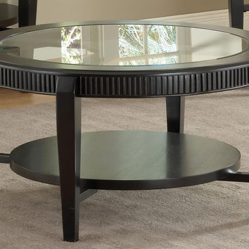 Celestial Black & Glass Coffee Table Set