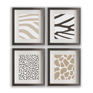 Animal Print Wall Art shop zebra print wall decor on wanelo