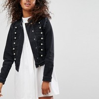 ASOS Denim Military Jacket at asos.com