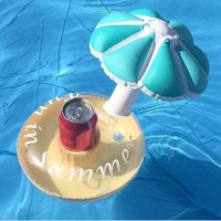 Hot new Mushroom Model Inflatable Pool Float Fungus Coasters Cola Beverage Cup Holder Swimming Pool Floats For Adults Children
