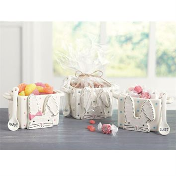 Bunny Ceramic Candy Caddy Sets (3 Styles Available)
