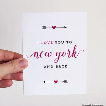 I Love You To New York and Back greeting card