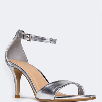 Dove Low Ankle Strap Heel