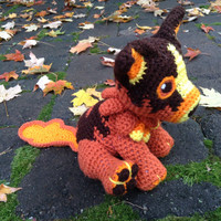 World of Warcraft Inspired: Molten Corgi Amigurumi (Crochet Plushie/Plush Toy) with or without Lava Trail! - MADE TO ORDER