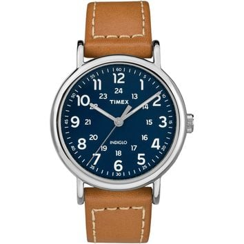 Timex Weekender 2-Piece Leather Strap Watch - Blue [TW2R42500JV]