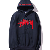 """Stussy""Unisex Lover Fashion Pattern Letter Loose Long Sleeve Sweatshirt"