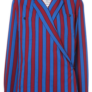 Maison Margiela Striped Wrap Blouse - Farfetch