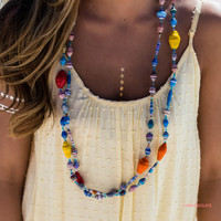 Papers Of Peace Multi Color Bead Necklace