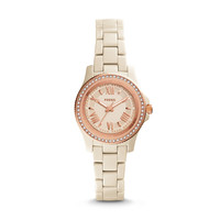 Cecile Toasted Almond Ceramic Watch