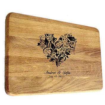 Cutting board wedding gift Personalized Cutting board Custom Engraved Wedding Gift Gifts Housewarming Gift Monogram Valentines Day