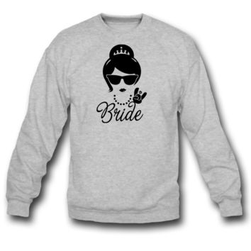 Bride Wedding Marriage Stag do Hen night party SWEATSHIRT CREWNECK