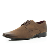 River Island MensBrown matte formal lace up shoes