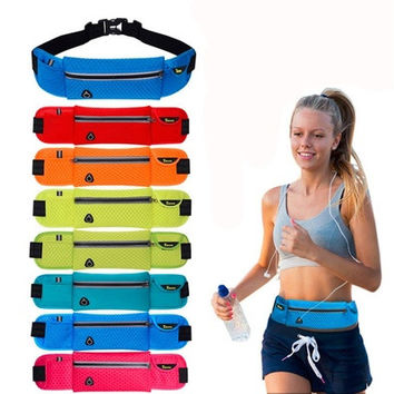 Unisex Anti-theft Slim Running Cell Phone Chest Waist Fanny Bag Sports Pack Belt Bag