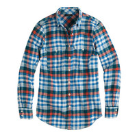 J.Crew Womens Boyfriend Flannel Shirt In Horizon Blue