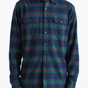 OBEY Morton Plaid Button-Down Shirt- Dark Green