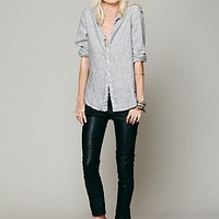 Free People Womens Keep It Rockin' Vegan Leather Cropped Skinny