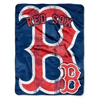 MLB Boston Red Sox Micro Raschel Plush Throw Blanket, Trip Play Design