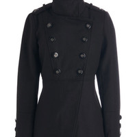 ModCloth Military Long Double Breasted Put to the Crest Coat