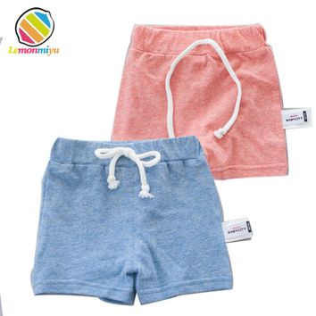 Children's Diaper Shorts Baby Ruffle Covers Boys Cotton Bloomers Sandy Beach Shorts Newborn Girls Short Pants Baby Kids Clothes