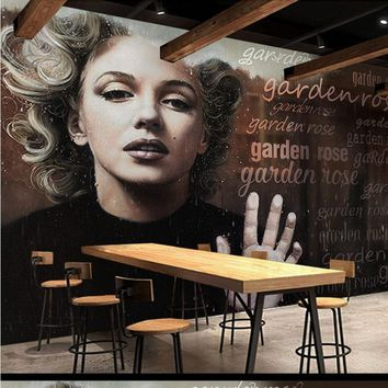 custom Retro Vintage Marilyn Monroe London Background Wall fashion beauty  3D photo wallpaper mural