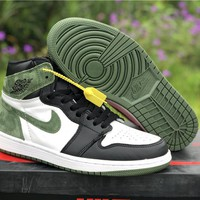 "Air Jordan 1 Retro ""Clay Green"" Sneaker Shoe"