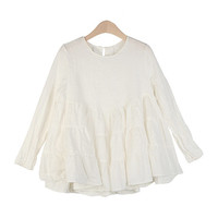 Round Neck Cancan Blouse