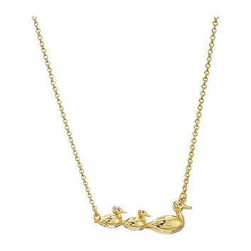Kate Spade New York Mom Knows Best Duck Pendant Necklace