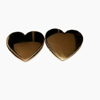Stainless Steel Earrings Multi-tone Heart Shape