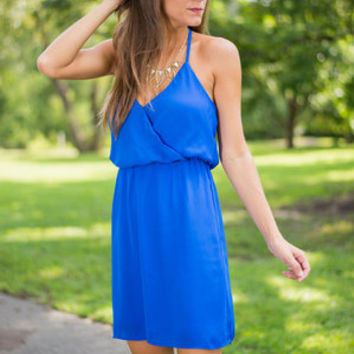 Exhilarating Moments Dress, Blue