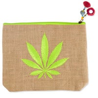 Neon Embroidered Stash Pouch