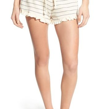 Rip Curl 'End of the Line' Stripe Ruffle Hem Shorts | Nordstrom