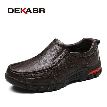 Fashion Comfortable Breathable Soft Genuine Leather Loafers Shoes Men High Quality Casual Falts Men Oxfords