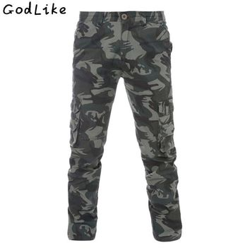 2017 Fashion Military Cargo Pants Men skinny Tactical Trousers Oustdoor Casual Cotton camouflage Cargo Pants Big size